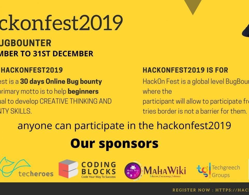 hackonfest2019